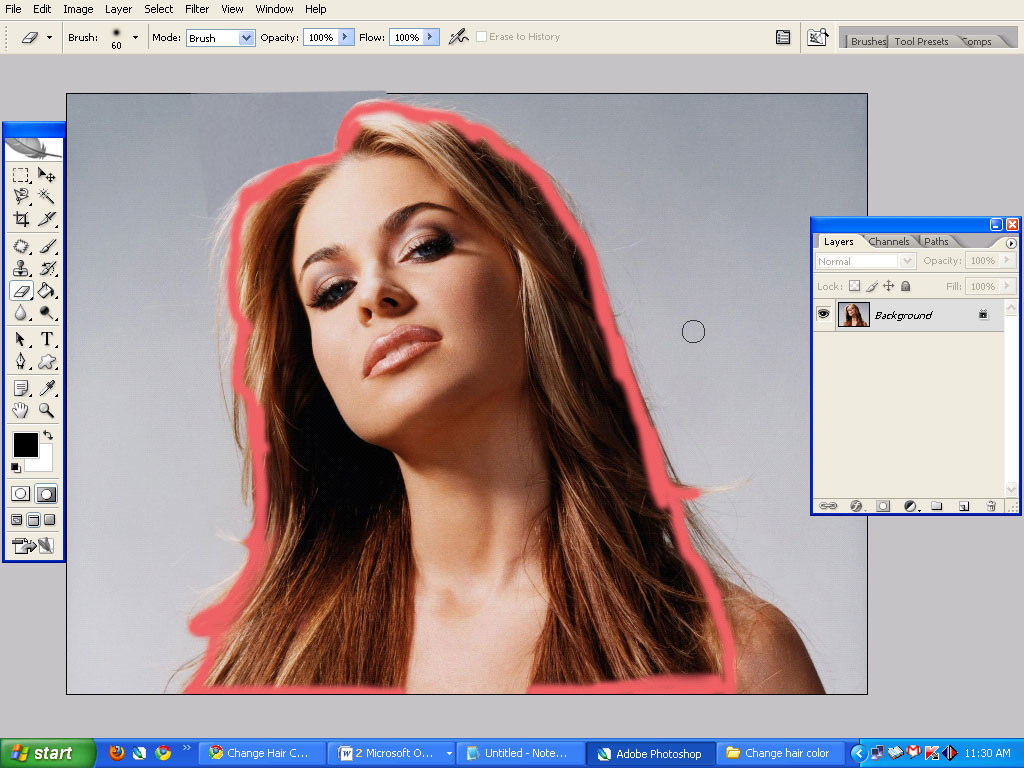 5 Easy Ways To Change Hair Color In Photoshop Graphics Bangladesh